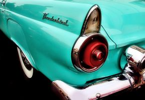 Turquoise T-Bird by robgbob