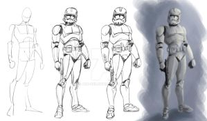 Clone Trooper - Color by adr-ben