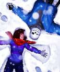 Snow angels by Anorha-Nono