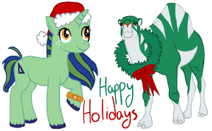Happy Holidays from Mad, Luka, and Sigma! by zomgmad