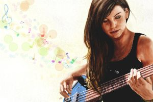 Marta and her bass by M4TiKo