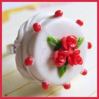 White Rose Cake Ring by cherryboop