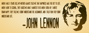 John Lennon Quote - Facebook Cover Photo by inkscapeX