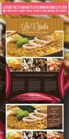 Luxury Restaurant and Catering Flyer PSD Template by ShermanJackson