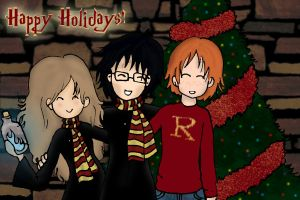 Harry Potter Christmas Card by Rzeznik91