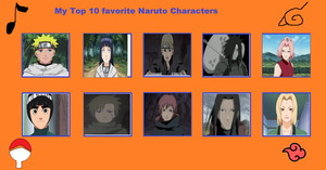 My Top 10 Favorite Naruto Characters (redo) by Dragonprince18