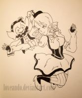 Tomoe Mami and Bebe ~ PMMM by Loveando