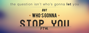 Facebook cover - Who's gonna stop you ? by Undead88130