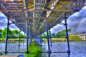 Under the Pier HDR by Red-Smurfette