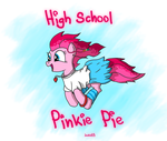 Pinkie Pie High School by JunkieKB