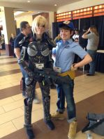 Sergeant Calhoun and Fix it Felix by Koragg1