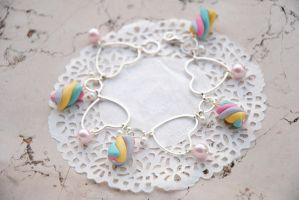 Soft marshmallow Bracelet by nuclearpomegranate