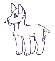 - Smol Pupper Lineart F2U- by BleedingColorAdopts