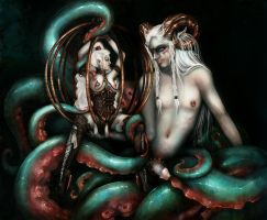 Tentacles and leather by RomanticFae