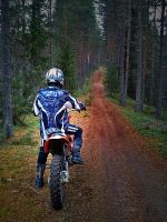 Dirtbike in the woods by Kverna