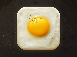 Fried Egg App Icon by creativedash