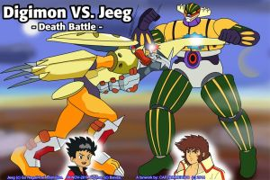 Digimon Wargreymon VS Jeeg by CaptainMexico