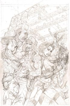 Zack The Zombie Exterminator Cover Pencils by J-WRIG