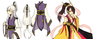 OCs -- Huang's robes by onisuu