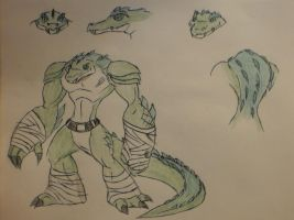 TMNT 2012 Leatherhead by StoneMan85