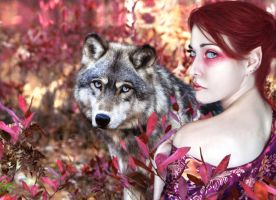 Wolf Autumn by IdaLarsenArt