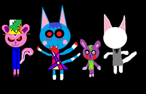 Animal Crossing as Creepypasta characters by carmenramcat