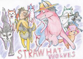 Straw Hat Wolves by jawazcript