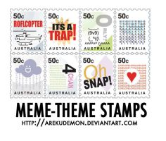 Meme-Theme Stamps by arekudemon