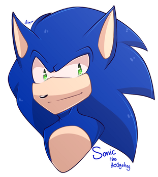 { Sonic Sticker } by r0sque