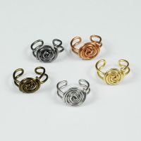 Spiral Button Ear Cuffs by sylva
