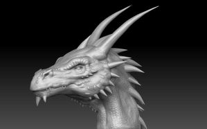 Dragon Head Sculpt by Akiratang