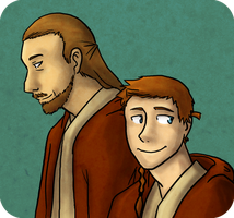 Obi-Wan and Qui-Gon by daxarve