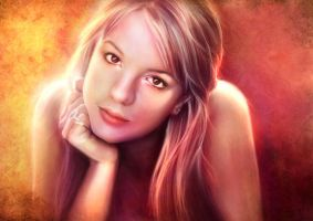 Britney Spears portrait by xiauyinn
