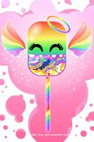 smiling rainbow cupid lollipop by kok-gini