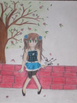 colored vers of girl in park by animeangelx94