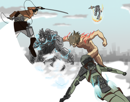 Attack on Titanfall by justinbysma