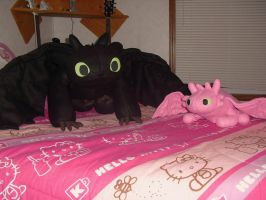 Toothless and Pinky by JeffrettaLyn