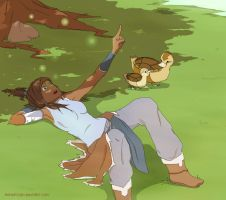 Korra and ducks by Ashopi