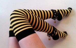 Honey Bee Socks by FivesAndSevens
