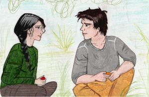 Katniss and Gale by Jessotnme
