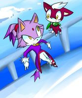 Blaze and chip by Melky9714