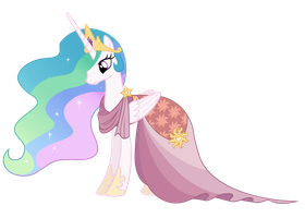 Celestia Standing Smiling - Gala 2 Dress by Sky-Wrench