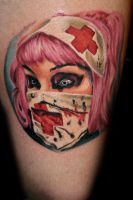 Zombie nurse by janitattoos