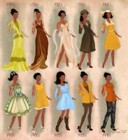 Tiana  in 20th century fashion by BasakTinli