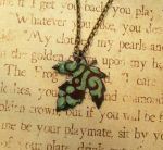 Enameled Nature Leaf Necklace by FusedElegance