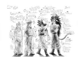 The 4 Sons of Bardock by Laborde91