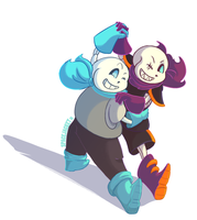 Undertale :: Underswap :: SwapFell :: Let's Dance by SpaceJacket
