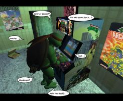 Mike on Arcade game TMNT by HarryWatson