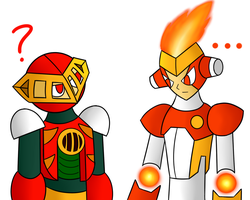 Pyro Man and Pyro Man by SnowmanEX711