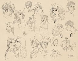 Harry Potter sketches by palnk